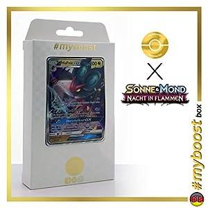 UHaFnir-GX (Noivern-GX) 99/147 - #myboost X Sonne & Mond 3 Nacht in Flammen - Box de 10 Cartas Pokémon Aleman