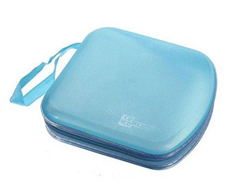 Whobabe 40 Soporte para Medios de Almacenamiento Estuche de Funda Caja rígida Billetera Bolsa de Transporte Caja de Almacenamiento de CD (Blue)