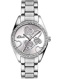 S.Oliver Damen Analog Quarz Armbanduhr SO-2857-MQ