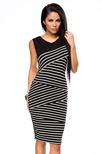 Kleid schwarz weiss elegant
