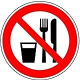 Aufkleber Essen und Trinken verboten D-P019 100mm