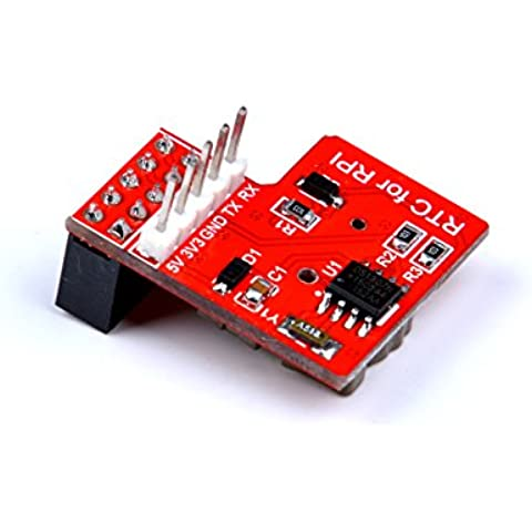 Angelelec DIY Open Source Raspberry Pi Module, Raspberry Pi RTC Real Time Clock Module - Compatible Raspberry Pi 3, USE I2C Communication Mode, Onboard DS1307 Clock Chip and a 1220 Coin Cell Battery
