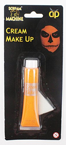 Halloween Orange Cream Make-Up Face Paint Schwamm Fancy Dress Kostüm Kids (Womens Face Kostüm Ghost)