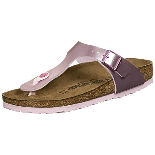 Birkenstock Gizeh Kids Electric Metallic Bambina,Infradito,Ragazza,Metallico,Electric Metallic Lilac,38 EU