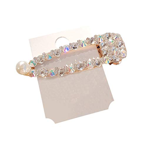 Lazzgirl Frauen Perle Diamant Haarspange Bobby Pin Haarband Haarnadel Haarspange Kamm Zubehör(C,One Size)