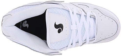 DVS (Elan Polo) Celsius, Chaussures de Skateboard Homme Blanc (White Leather)