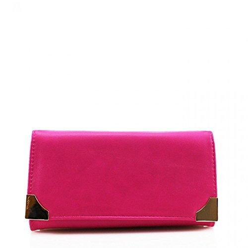 LeahWard® Damen Kunstleder Geldbörsen Groß Marke nett Brieftasche Geldbörse Tasche CW1608 Rosa Geldbörse