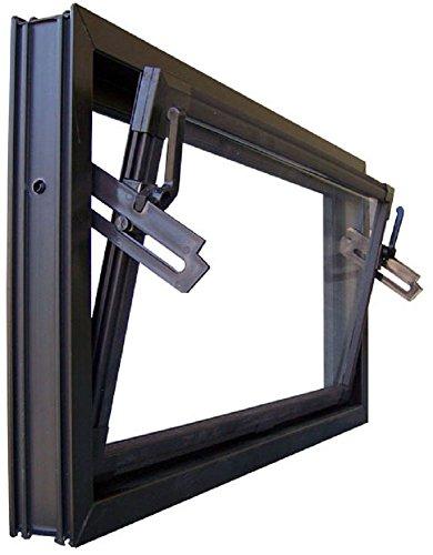 Kippfenster braun 60 x 40 cm Einfachverglasung