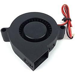 UEETEK Imprimante 3D Refroidissement Ventilateur DC 12V pour Radiateurs Dissipateur de Chaleur Noir
