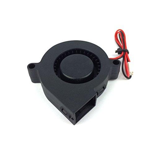 UEETEK Ventilador DC 12V para impresora 3D, ventilador de turbina ventilador de radiador, excelente para disipadores de calor de refrigeración en Hot End, accesorios de impresora 3D,Negro