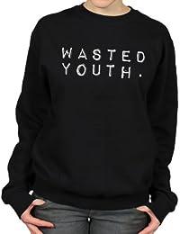 Wasted Youth Skateboarding Punk Rock Music Womens Sweatshirt