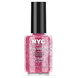 (3 Pack) NYC Long Wearing Nail Enamel - Pink Bling