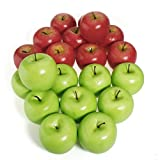 Nicebuty 12PCS decorativo grande mela rossa plastica frutta artificiale party a