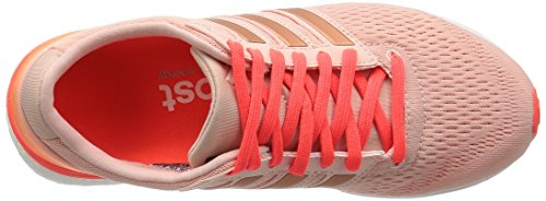 adidas Adizero Boston 6 W, Chaussures de Running Entrainement Femme Rose (vapour Pink/vapour Pink/solar Red)