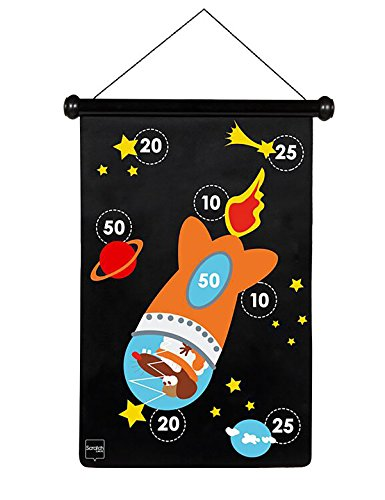 Scratch 6182001 - Dartspiel Astronaut, groß, magnetisch, 70 x 36 cm