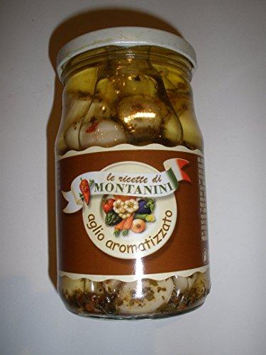 Montanini Aglio spicchi in Olio / Ganzer Knoblauch in Öl 280 gr.