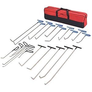 vidaXL Kit de débosselage sans peinture Réparation 21 pièces Acier inoxydablepas cher