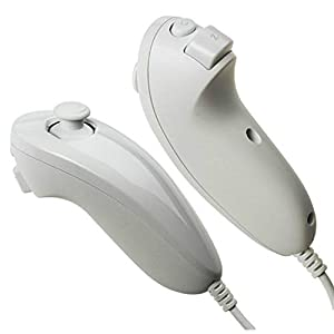 TheMax® WII NINTENDO WHITE NUNCHUK CONSOLE JOYSTICK CONTROLLER REMOTE FOR NINTENDO Wii & WII U from JRH