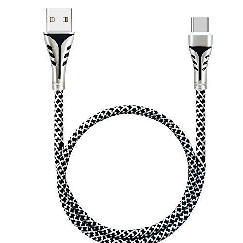 USB Kabel Ladekabel Quick-Charge USB Verbindungskabel HDMI-Kabel stabil Datenübertragung geflochtenes Datenkable Langes, Starkes USB-Ladegerät für Typ C-Kabel aus Nylon-Metalldraht mit 2,4-A-Kabel
