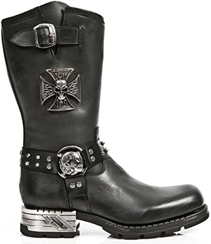 Newrock New Rock M.MR030 S1 Schwarz Western Cowboy Gothic Biker Lederstiefel SchuheNewrock M MR030 S1 Lederstiefel EU 38