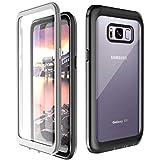 Temdan Kompatibel mit Samsung Galaxy S8 Hülle, Transparent Stoßfest Bumper 360 Rundumschutz Hülle mit Eingebautem Displayschutz Handyhülle Schutzhülle für Samsung Galaxy S8 5,8 Zoll Schwarz