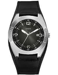 Guess Herren-Armbanduhr Analog Quarz Leder W75052G1