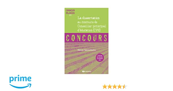 exemple dissertation concours cpe
