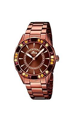 Lotus 15894-3 - Reloj para mujeres, correa de acero inoxidable