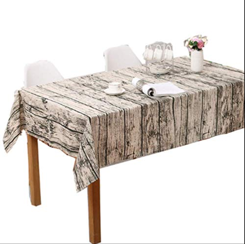 AOUP-Tischdecke, Baumwolle Leinen Tischdecke, Europäische Tischdecke Wasserdicht Anti-heißen Couchtisch Baumwolle Hotel Haus Tischdecke 100 * 140CM 1