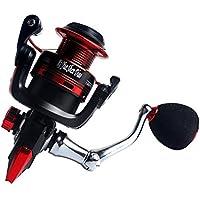 Trifycore giro de la pesca con 10 + 1 protegido del acero rodamientos de bolas de acero actividades de pesca arandela de metal de fibra de carbono Arrastre yugo-Tipo 3000, Deportes y tiempo libre fitness
