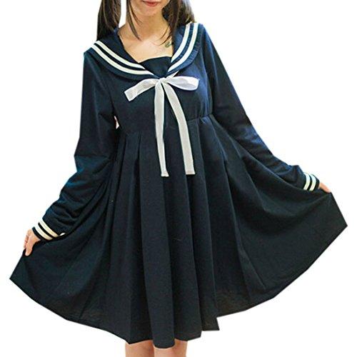 Partiss - Robe de chambre - Femme Bleu - Bleu marine
