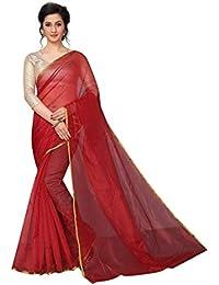 Perfectblue Women's Cotton Silk Saree With Blouse Piece (SilkiVariation)