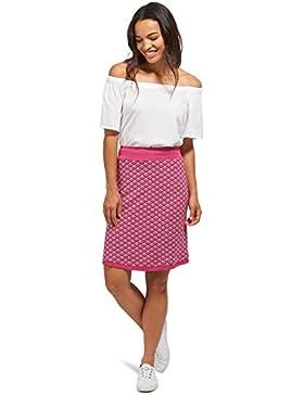 Tom Tailor für Frauen Skirt gemusterter Jersey-Rock cornflower pink 34