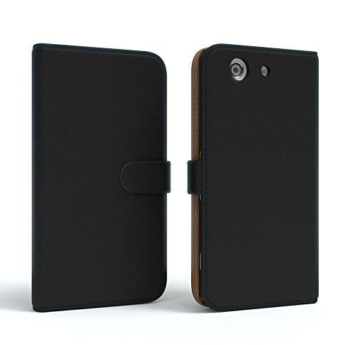Sony Xperia Z3 Compact Hülle - EAZY CASE Premium Flip Case Handyhülle - Schutzhülle aus Leder in Braun Schwarz (Book)