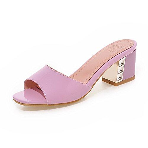 Estate-coreano versione di pantofole chunky tacchi parola/Dolce principessa scarpe E