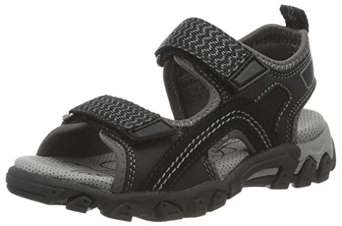 Superfit Hike, Boys' Ankle-Strap Ankle Strap Sandals, (Schwarz 00), 1 UK (33 EU)