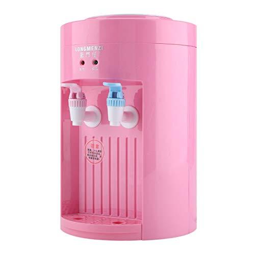 Wasserspender - Mini Desktop Electric Top Loading kochende Wasserspender 220V Blau Rosa (Farbe : Rosa)