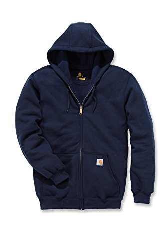 Carhartt K122 Midweight Hooded Zip Front Sweatshirt - Kapuzenjacke (M, dunkelblau) Zip Front Hooded Sweatshirt Shirt