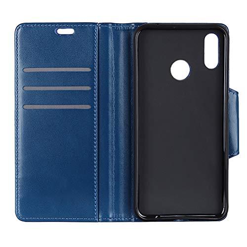 alcatel 5v Leder Handyhülle,Clamshell Iron Buckle Multifunktionale Kartensteckdose aus Leder Classic Phone Shell Cover für alcatel 5v