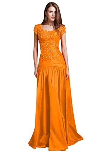 Sunvary perline A-line elegante con maniche da sera, abiti da sposa, abiti da donna Arancione