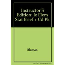 Instructor's Edition: IE Elem Stat Brief + CD Pk