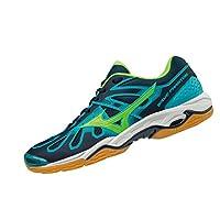 MIZUNO X1GA166036 Wave Phantom Men's Handball Shoes, 9.5 UK, Blue/Green/Peacock Blue