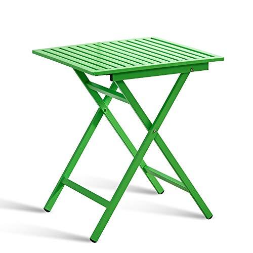 ZZHF La Table de Nuit Table d'appoint, Table d'appoint Pliable Iron Art, Table carrée de Balcon, Table Basse, Table de Loisirs de Plein air, Table de Repas, 60 cm, 3 Couleurs Table d'angle