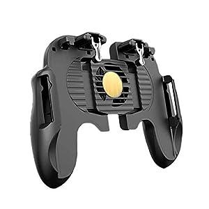 Bequemer Gamecontroller Controller Mit Lüfter for PUBG Mobile Gamepad Handy Joystick Gamer Android Gamepad L1R1 Controller für Freizeit und Unterhaltung