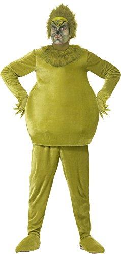 Smiffy's 31843M - Herren Der Grinch Kostüm, Größe: M, (Der Film Charaktere Kostüme)