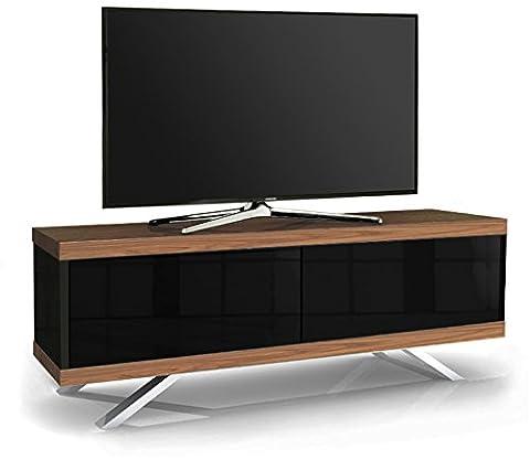 MDA Designs Tucana 1200 HybridMeuble TV en noyer pour téléviseur à écran plat de 26 à 55