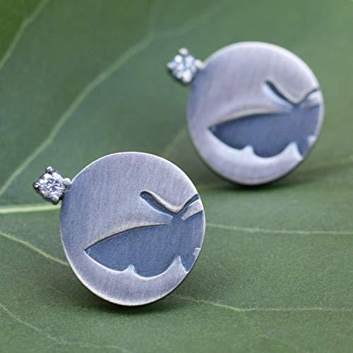 Ohrstecker Silber außergewöhnliche Ohrringe moderner Silber-Schmuck