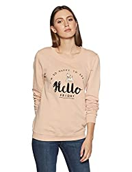 VERO MODA Womens Cotton Sweatshirt (10194227_Rose Cloud_M)