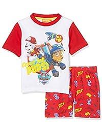 435c443b21c51 La Pat  Patrouille Pyjama Court Enfant garçon Blanc Rouge de 3 à 6ans