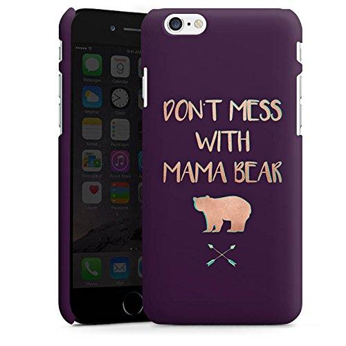 Apple iPhone 5c Silikon Hülle Case Schutzhülle Mama Bär Muttertag Mutter Premium Case matt